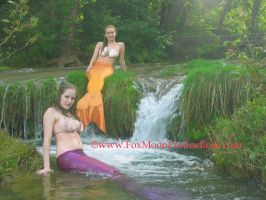 Mermaids at the Falls. by FoxmoonMerfolk