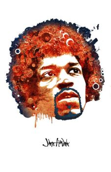 PosterVine Jimi Hendris Poster by PosterVine