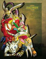 Digimon Group Poster by arger