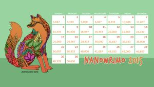 2015 NaNo Calendar - Colouring Books by Margie22
