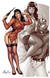 Bettie Page The Rocketeer by Elias-Chatzoudis