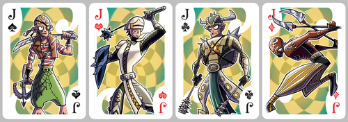 Inkjava Playing Cards [jacks] by ivewhiz