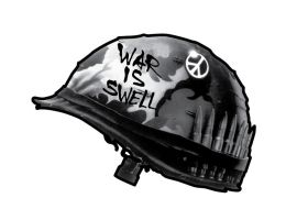War Is Swell Sticker by Jawa-Tron