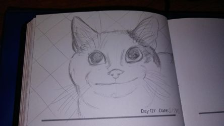 Sketch Journal Day 127: Ollie, the Polite Cat by TheSpiritCreative
