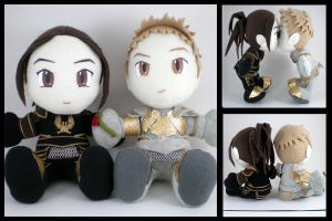 Alistair + Cousland plushies by eitanya