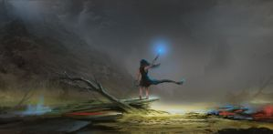 Path of exile mud flats witch by Asahisuperdry