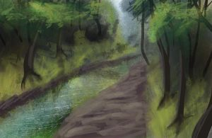 River Speedpaint by DoubletheU