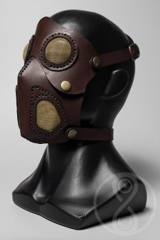 Cremator leather mask by LahmatTea