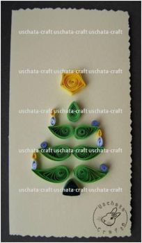 Quilling - X-Mas Card 1 by Eti-chan