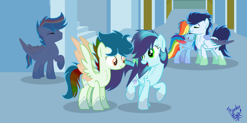 Next gen - Rainbow Dash's family by ThunderSpeedYT
