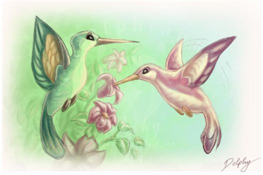 Hummingbirds by DolphyDolphiana