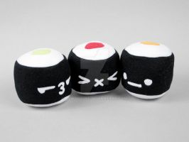 Maki Roll Sushi Plushies by SewDesuNe