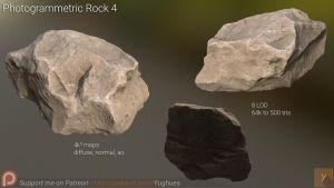 [Free] Photogrammetric Rock 4 by Yughues