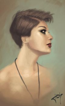 Portrait painting exercice number 7 by j--o--h