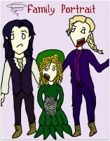 Family Portrait - Louis, Claudia and Lestat by Greeneyesmetblack