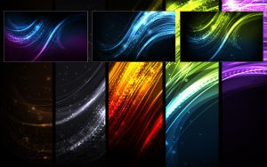 Glow wallpaper series no. 2 by yvaine2010