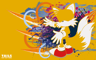 Tails Silhouette -Wallpaper- by Fuzon-S