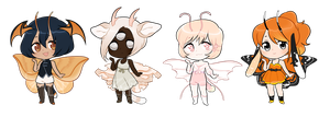 mothitts: halloween adopts (2/4 OPEN) by lymerikk