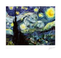 . Poly Starry Night . by TheArta