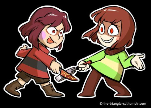 Commission: Two Charas by Triangle-cat