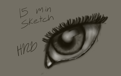 Eye sketch by HighNoonDraw