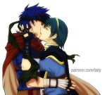 Marth on Ike by tallydraws