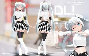 [MMD]Miss Monochrome Model Edit DL! by LomiVoka