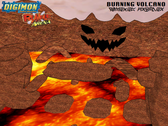 Digimon Rumble Arena: Burning Volcano by Gale-Kun