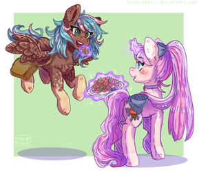 Chocolate Strawberries - Commission by Kitsu-chan11
