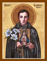 St. Gabriel Possenti of Our Lady of Sorrows icon by Theophilia