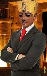 The last pharaoh of Egypt by nyrouf