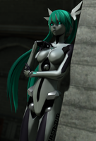 [MMD] Carbon White Miku [2] by Redoxygene