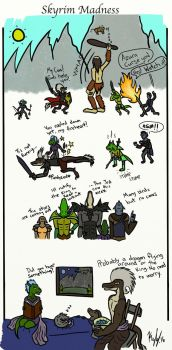 Skyrim Madness mini Comic by kayly101
