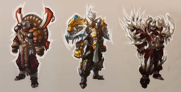 High Level class armor concepts by MinohKim