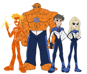 Flames and Loyalty - The Fantastic Four by edCOM02