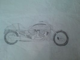 Bike Sketch - Harley Davidson Chopper by Plageman18