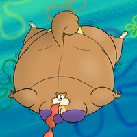 Sandy Cheeks Blimping by Boman100
