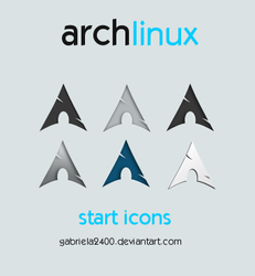 Arch Linux Start Icons by gabriela2400