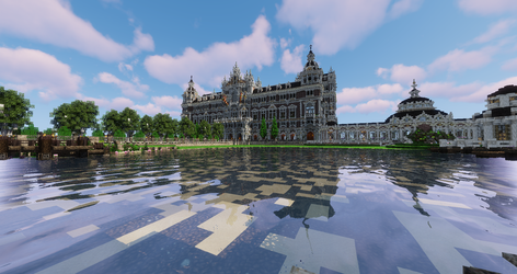 Parc Central - Panoramic View towards Townhall by Stevecurious