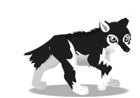 wolf pup b n w by PurpleRat-YS