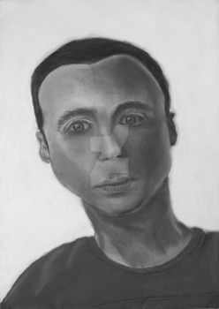 Sheldon Cooper - Charcoal and Chalk by WillZMarler