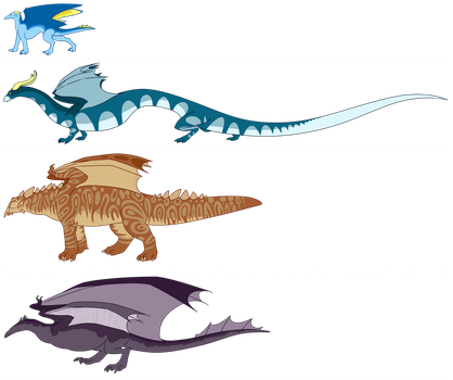 Dragon size comparisons by Mayimayo