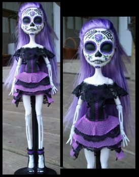 Monster High Custom Spectra 'Day of the Dead' Doll by AdeCiroDesigns
