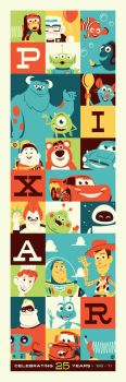 Pixar 25 by Montygog