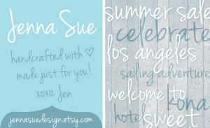 Jenna Sue - A handwritten font by jennasuedesign