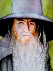 Tribute to Gandalf the Grey by ANDREAMARINO93