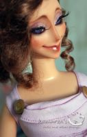 Disney Keepsake Megara doll repaint 2 by kamarza