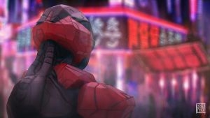 Neon Seoul by Andrew-Lim