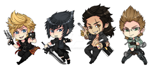 Final Fantasy XV Stickers by fir3h34rt