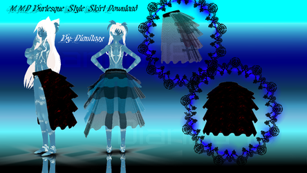 MMD Burlesque Style Skirt Download by dianita98